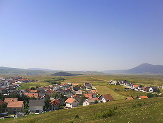 Battle of Kupres (1992) - Kupres and a part of the plateau, seen in 2009