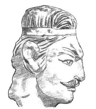 Kushan Empire - Head of a Kushan prince (Khalchayan palace, Uzbekistan)