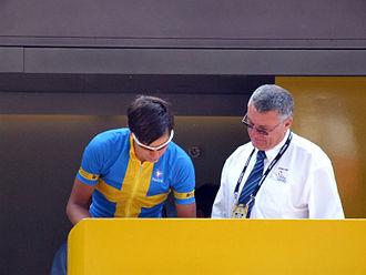 Groupama–FDJ - Lövkvist signing in at Tarbes during the 2006 Tour de France