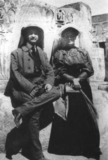 L. Frank and Maud Baum in Egypt 1906.png