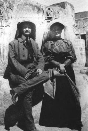 Maud Gage Baum - L. Frank and Maud Gage Baum in Egypt in 1906