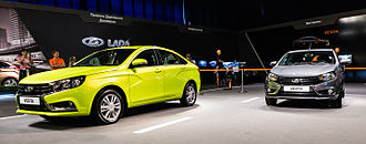 Economy of Russia -  Lada is the brand of AvtoVAZ, the largest Russian car manufacturer in the Russian automotive industry.