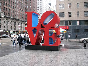 Love (sculpture) - Sculpture in New York City, United States