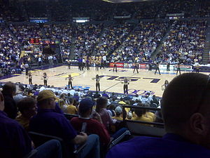 The Pete Maravich Assembly Center just before tipoff