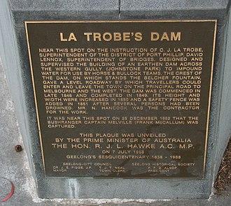 Johnstone Park - Image: La trobe dam geelong