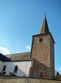 La tour de l'église de Lannen Grand-Duché de Luxembourg.JPG