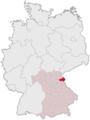 Lage des Landkreises Tirschenreuth in Deutschland.png