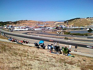 Mazda Raceway Laguna Seca - Laguna Seca Raceway from between Turns 1 and 2