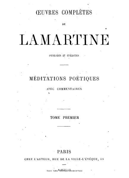 File:Lamartine - Œuvres complètes de Lamartine, tome 1.djvu