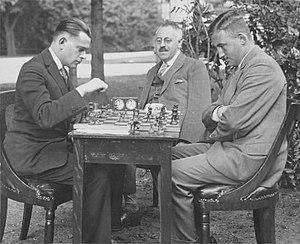 Salo Landau - Salomon Landau vs. Johannes Hendrik Otto count van den Bosch (1906-1994), c. 1930