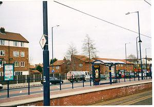 Langworthy tram stop - Langworthy tram stop in 2004