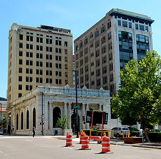 Laura Street Trio - The Laura Street Trio: the Florida Life Building (left), the Marble Bank (foreground), and the Bisbee Building (right)