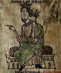 Laws of Hywel Dda (f.1.v) King Hywel cropped.jpg