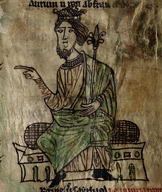 History of Wales - King Hywel Dda depicted in a 13th-century manuscript