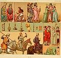 Le costume historique. Cinq cents planches, trois cents en couleurs, or et argent, deux cents en camaieu. Types principaux du vêtement et de la parure, rapprochés de ceux de l'intérieur de (14761016181).jpg