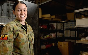Women in the Australian military - A female member of No. 75 Squadron RAAF in 2008