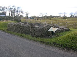 Leahill Turret, Hadrian's Wall - Image: Leahill Turret 51B, looking East. Hadrian's Wall