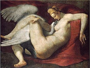 Leda and the Swan (Michelangelo) - Copy in the National Gallery