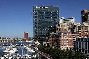 Carey Business School - Legg Mason Tower, the home campus of the Johns Hopkins Carey Business School