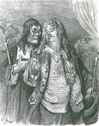 """Jean de La Fontaine - An illustration of """" Les Médecins """" (Fable V.12) by Gustave Doré, 1866"""