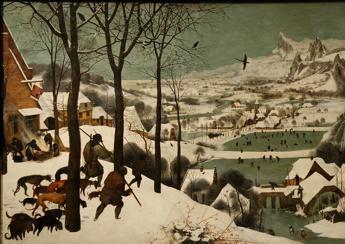 """Résultat de recherche d'images pour """"tableau de brueghel les chasseurs dans la neige"""""""