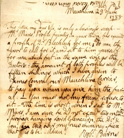 how to type a letter file letter 1788 june 23 mauchline to robert ainslie 1788