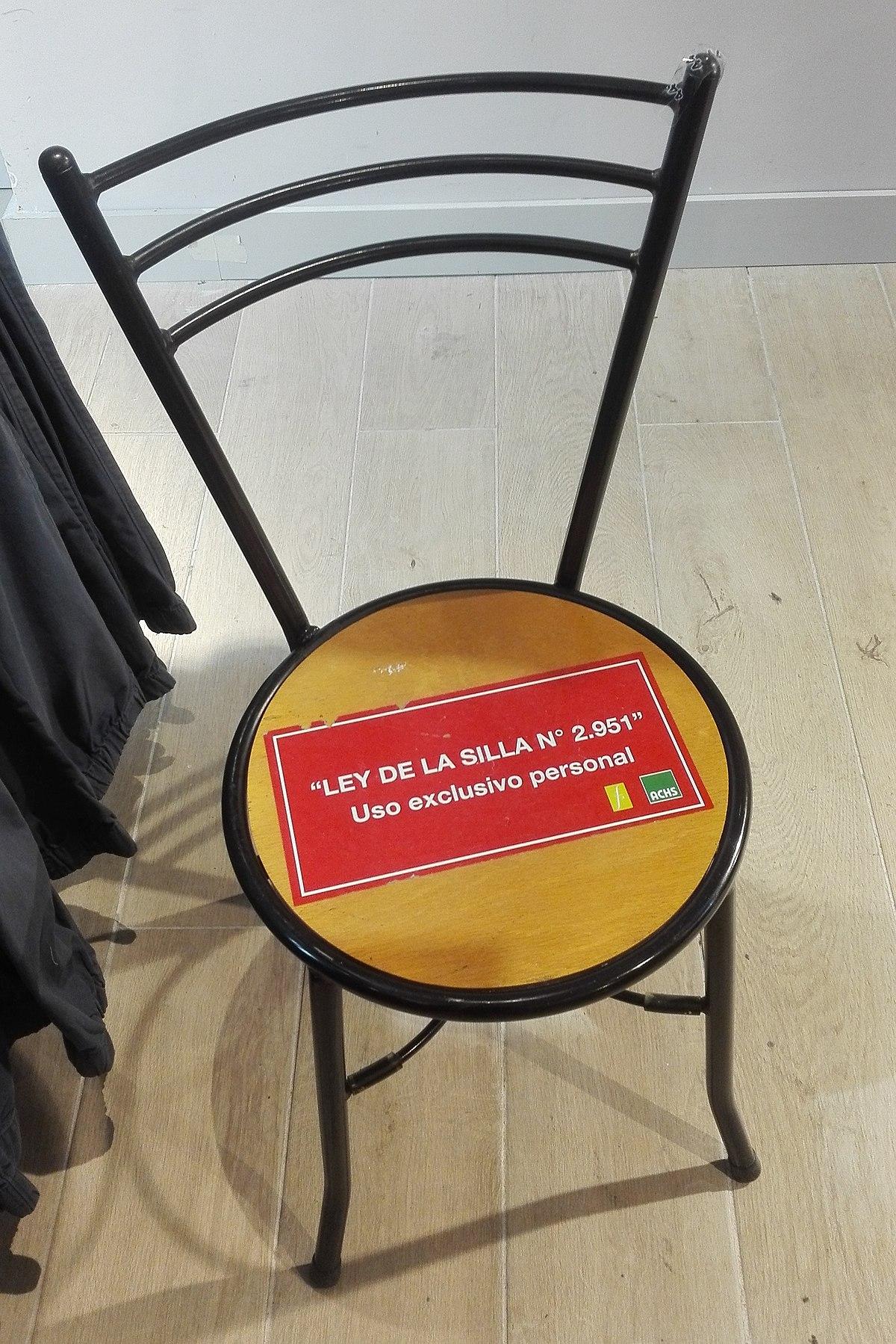 Ley de la silla chile wikipedia la enciclopedia libre for Sillas ergonomicas chile