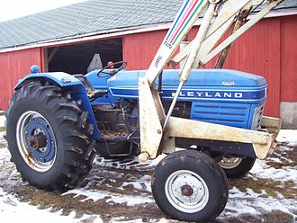 British Leyland - British Leyland 270 tractor fitted with aftermarket loader in the USA.