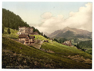 Leysin - Old photochrom showing some of the resorts in Leysin