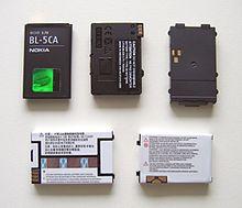 Esempi differenti di batteria per cellulare amovibili