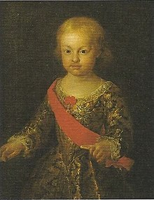 "Infante Philip, Duke of Calabria died 19 September Infante Felipe Antonio, ""Duke of Calabria"" Infante of Spain (Francesco Liani).jpg"