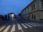 Liběchov, Rumburská, od náměstí, v noci.jpg