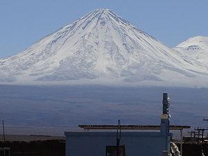 Licancabur, view of the volcano from San Pedro...