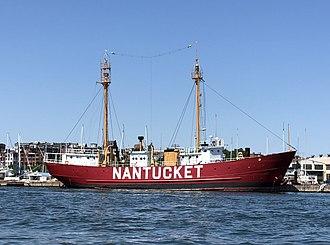 United States lightship Nantucket (LV-112) - Image: Lightship Nantucket (LV 112) in Boston harbor 2018 crop.agr