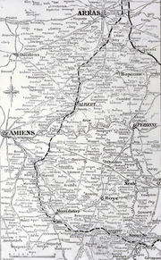 Limit of the German advance during Operation Michael, March–April 1918