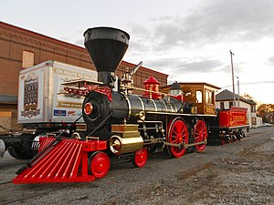 New Freedom, Pennsylvania - The Leviathan, a replica of Abraham Lincoln's funeral train, in New Freedom