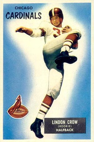 Lindon Crow - Crow on a 1955 Bowman football card