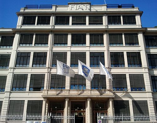 The Lingotto building in Turin, the world headquarters of Fiat. LingottoPalazzina4.jpg