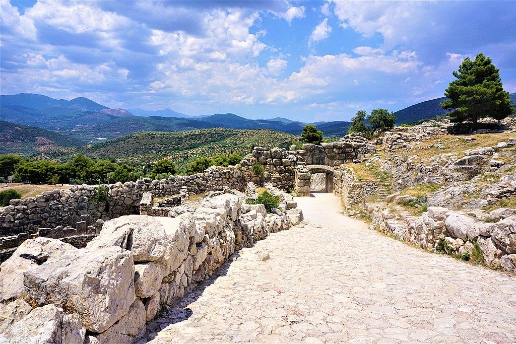 Lion Gate from inside Mycenae by Joy of Museums
