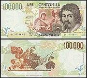 Lire 100000 (Caravaggio).JPG