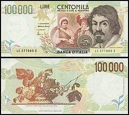 Lire 100000 (Caravaggio)