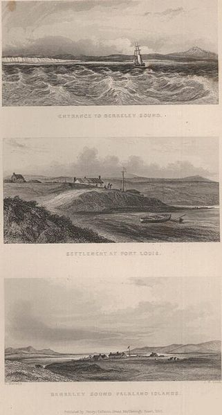 File:Litografia Conrad Marterns, Puerto Soledad or Port Louis, Malvinas or Falkland Is 1833.JPG