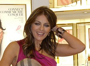 English: Liz Hurley, Harrods, London Oct 19th 2010