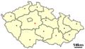 Location of Czech city Sazava.png