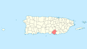 Location of Salinas in Puerto Rico