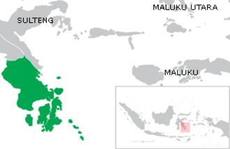 Southeast Sulawesi - Image: Locator sultra final