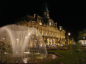 Tours - Town hall and Place Jean Jaurès