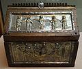 Lombardia, casetta reliquiario dei santi cipriano e giustina, x secolo, argento, quarzo e ottone su legno, 01.JPG