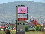 Lone Peak Hospital sign, Draper, Utah, Jun 16.jpg