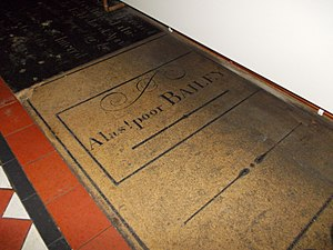 Long Sutton, Lincolnshire - Dr Bailey's inscribed stone in the church